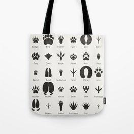 Common Animal Tracks Tote Bag
