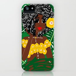 Tropical Gal iPhone Case