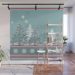 Winter scene Wall Mural