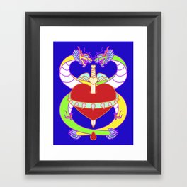 Love (Lucky Number 8) Framed Art Print