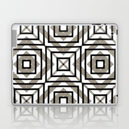 Gray, Gold, and White Geometric Abstract Laptop & iPad Skin