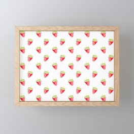 strawberry new cute art pattern texture fun color style 2018 cover case skin old fruit summer shirt Framed Mini Art Print