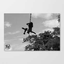 Girl on Swing B&W Canvas Print