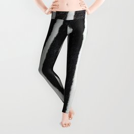 Zebra skin close-up view luxury abstract pattern Leggings