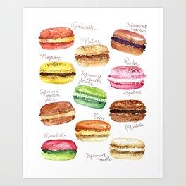 Macarons, French Macarons Art Art Print