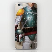 boba fett iPhone & iPod Skins featuring Boba Fett by Yvan Quinet