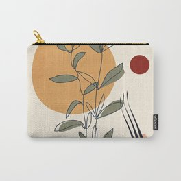 Minimal Line Young Leaves Carry-All Pouch