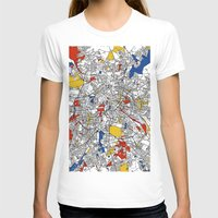 mondrian T-shirts featuring Berlin mondrian by Mondrian Maps