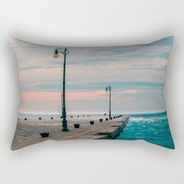 Windy day in the city of Trieste Rectangular Pillow
