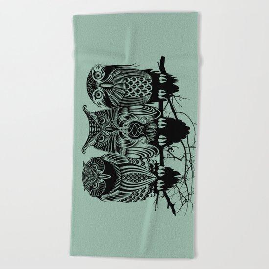 Owls of the Nile Beach Towel