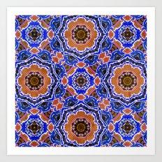 Tiled Kaleidoscope Mandalas Art Print