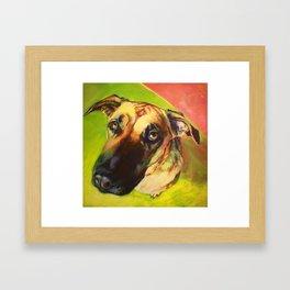 This Dog Didn't Mean It. Framed Art Print