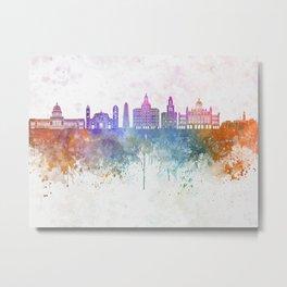 Havana V2  skyline in watercolor background Metal Print