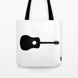 Acoustic Guitar Silhouette Tote Bag
