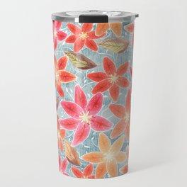 Cute Lilies and Leaves Travel Mug