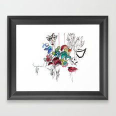 All there Framed Art Print