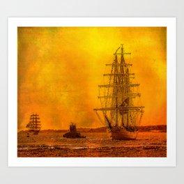 Tall Ships - Morning of Glory Art Print