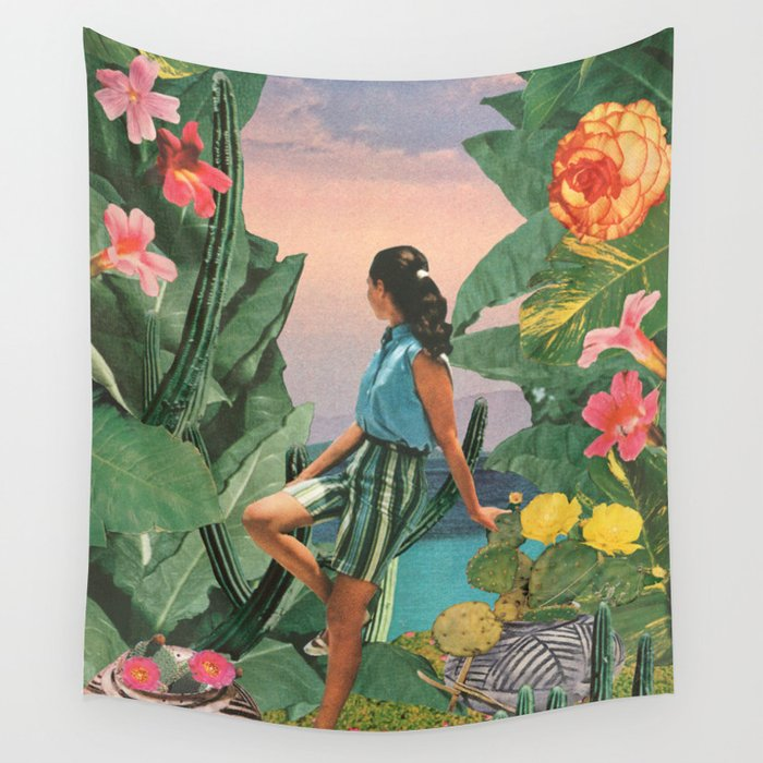 Botanical Cove Wall Tapestry