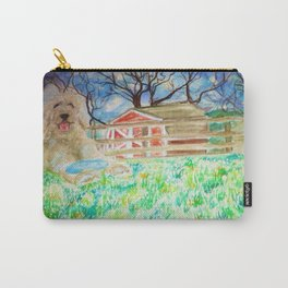 Goldendoodle Cuteness Watercolor Painting Carry-All Pouch