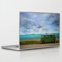 volkswagen Laptop & iPad Skins featuring volkswagen bus  by Aaron Joslin Photography