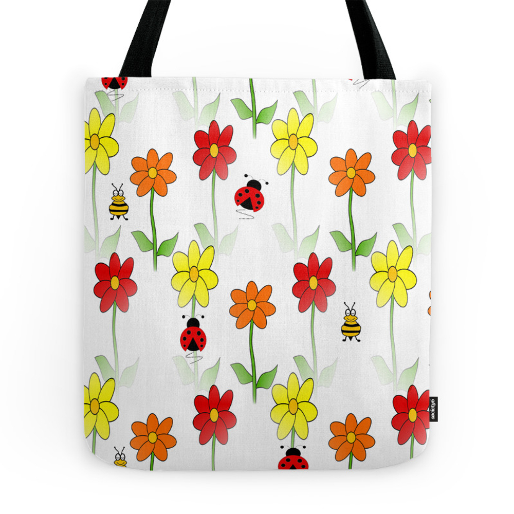 Bees Lady Bugs And Nature Tote Purse by kathleensartoris (TBG7218562) photo