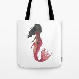 Red Mermaid Tote Bag
