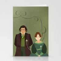jane eyre Stationery Cards featuring String (Jane Eyre) by Rebecca Brown