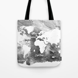 The world's most beautiful ports, map Tote Bag