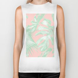 Island Love Seashell Pink + Light Green Biker Tank