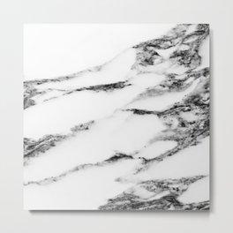 Marble (White) Metal Print