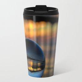 Avila Pier Captured in a crystal ball at sunrise Travel Mug