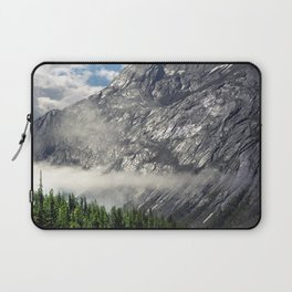 Remnants of Morning Fog in Canadian Rockies Laptop Sleeve