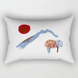 Mountain trees watercolor Rectangular Pillow
