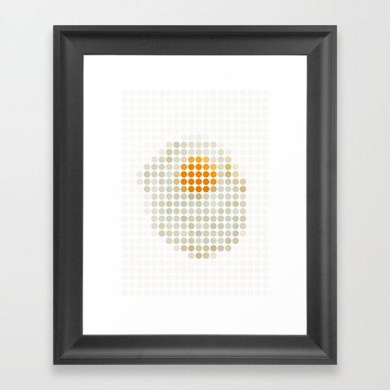 and egg. Framed Art Print
