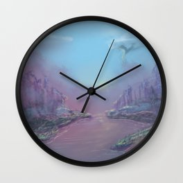 Lavender Mist Wall Clock