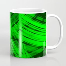 Sharp filaments of metallic malachite threads with the energy of magic.  Coffee Mug