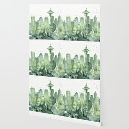 Seattle Watercolor Painting Wallpaper