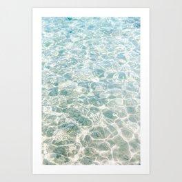 Clear Blue Water Crete, Greece   Fine Art Travel Photograpy Print  Art Print