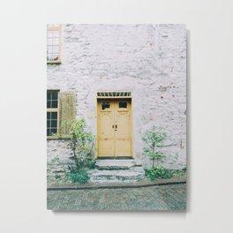 Visby Doorway Metal Print