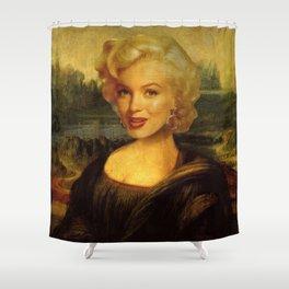 Mona Lisa & Marylin Shower Curtain