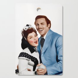 Kathryn Grayson and Howard Keel Cutting Board