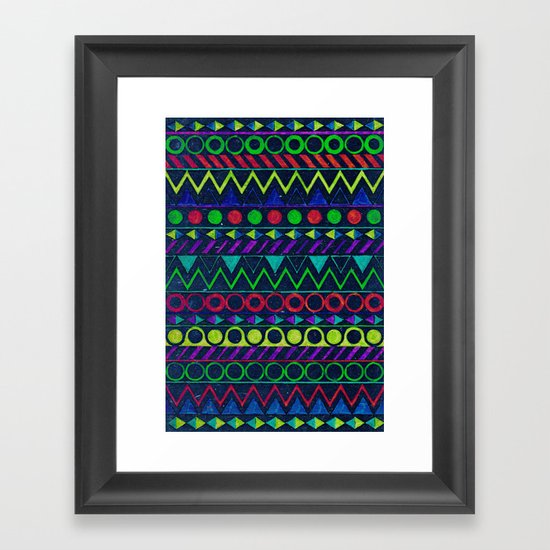 Billy Aztec Framed Art Print