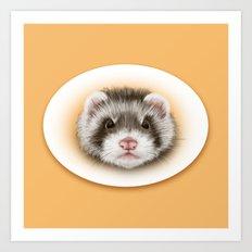 angry ferret Art Print