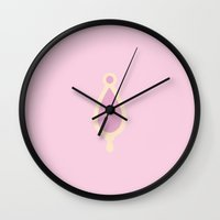 madoka Wall Clocks featuring Madoka Kaname Soul Gem by ejgomez