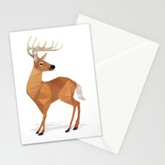Low Poly White-tailed Deer Stationery Cards