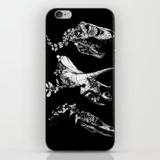 Jurassic Bloom - Black version. iPhone Skin