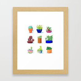Succulent Dragons Framed Art Print