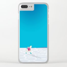 Bolivia Salt Flats Travel Poster Clear iPhone Case