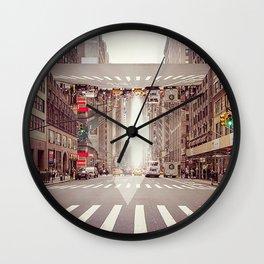 Abstract New York City, Triangle, Illusion Wall Clock