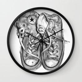 Old Converse Drawing Wall Clock